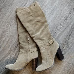 Sam Edelman Tall Suede Tan Boots